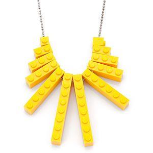 Derya's Winter Shop    Sarı Lego Kolye