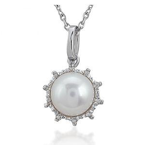Divas Diamond    Pırlanta İnci Kolye