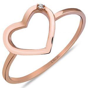 Divas Diamond    Pırlanta Kalp Yüzük