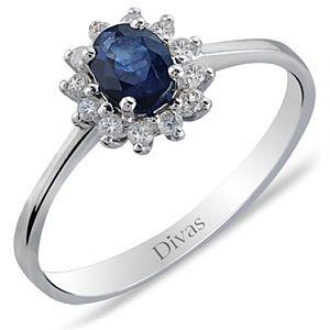 Divas Diamond    Pırlanta Safir Yüzük