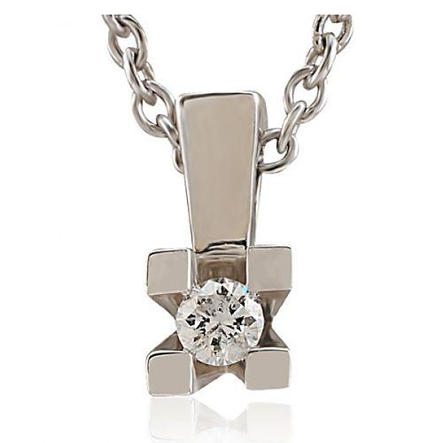 Divas Diamond    PırlantaTektaş Gümüş Kolye