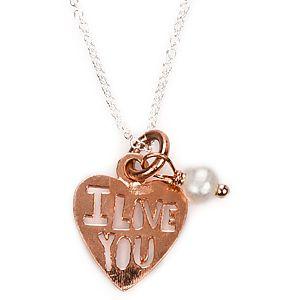 Osenmi    Altın Kaplama Kalp I Love You Kolye