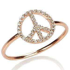 Osenmi    Pembe Altın Pırlantalı Barış Yüzük