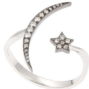 Q'te Diamond    Ay Yıldız Pırlanta Yüzük