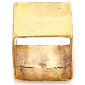 Ümit Aybek    Altın Kaplama Plaka Kare Yüzük