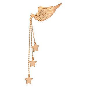 Alaz By Çağrı Kazancı    Pembe Altın Kanatlı Yıldız Tek Küpe