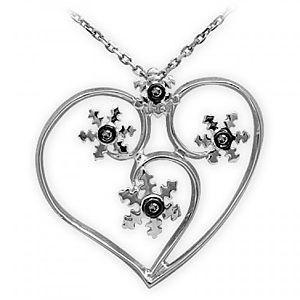 ARİŞ PIRLANTA    Gümüş Taşlı Kalp Kolye