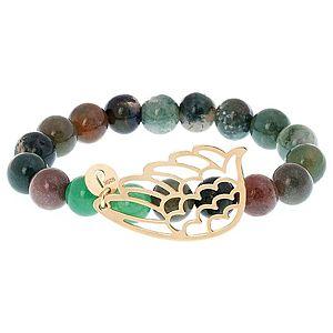 B bangle by Banu Muller    Yeşil Taşlı Melek Kanatlı Bileklik