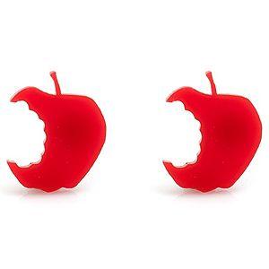 Bugga    Kırmızı Elma Çivi Küpe