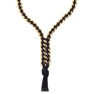 Chain Reaction    Altın Rengi Chain Lux Siyah Kolye