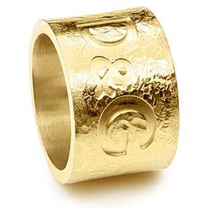 Dolce & Gabbana    Altın Kaplama D&G Yazılı Yüzük