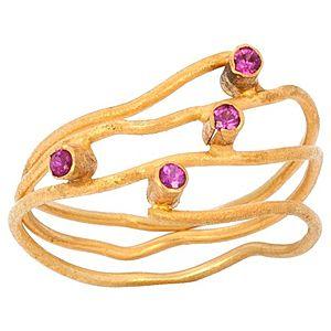 Elif Doğan Jewelry    Yakut Harmony Yüzük
