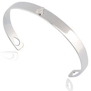 Lin Jewelry    Damla Taşlı Parlak Beyaz Bilezik