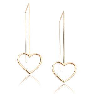 Lin Jewelry    Sallantılı Kalp Küpe