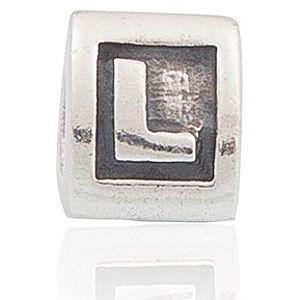 """Pandora    """" L """" Harfli Gümüş Charm"""