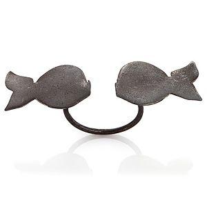 Ümit Aybek    Okside Çift Balık Yüzük