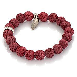 Derya's Winter Shop    Kırmızı Lav Taşlı Bileklik