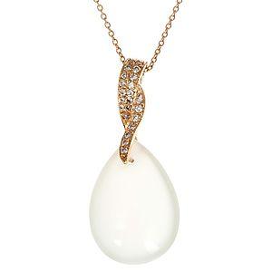 HRN Diamond    Beyaz Aytaşlı Kolye