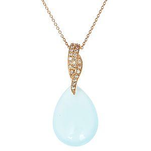 HRN Diamond    Mavi Kalsedonlu Kolye