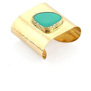 Pieces    Flica Altın Rengi Mavi Taşlı Bileklik