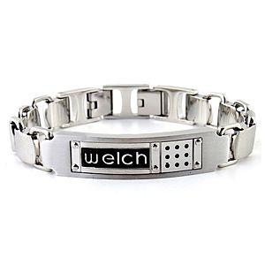 welch    Welch Yazılı Çelik Bileklik