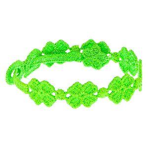 CATCH YOUR LUCK    Neon Yeşil Çiçek Figürlü Bileklik