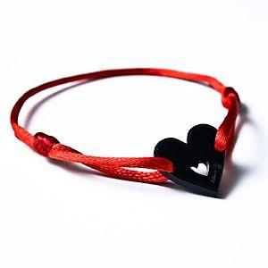 Didem'in İzi    Kara Kalp İp Bileklik