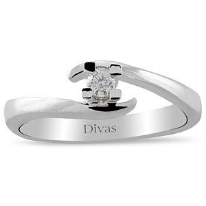 Divas Diamond    Birleşen Pırlantalı Tektaş Yüzük