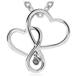 Divas Diamond    Pırlantalı Kalpler Kolye