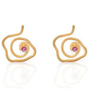 Elif Doğan Jewelry    Minik Harmony Yakut Küpe