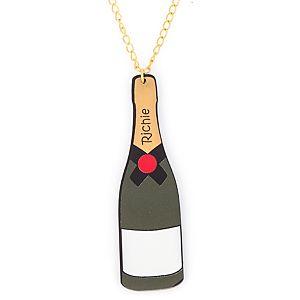 Kings & Queens Party    Siyah Şampanya Şişesi Kolye