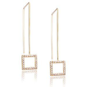 Lin Jewelry    Kare Taşlı Küpe