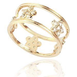 Lin Jewelry    Taşlı Gonca Yüzük