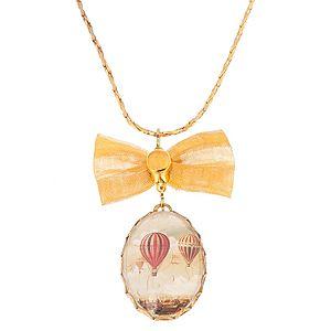Lucky Beads    Balon Gezisi Altın Kaplama Kolye