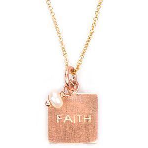 Osenmi    Altın Kaplama Faith Kolye