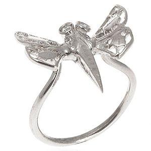SHAINA    Tiny Butterfly White Yüzük