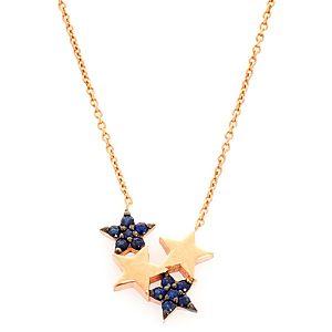 Takika Diamond    Safir Ufak Yıldız Kümesi Kolye