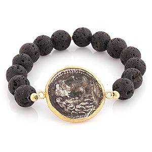 Ali Güleç    Siyah Antik Figürlü Para Bileklik