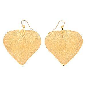 ANA Jewellery    Altın Renk Kalp Yaprak Küpe