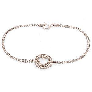 DK Accessories    Taşlı Kalp Gümüş Bileklik