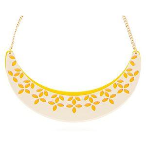 Lucky Beads    Sarı Çiçek Kolye