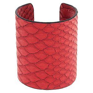 MiaRossa    Kırmızı Deri Cuff