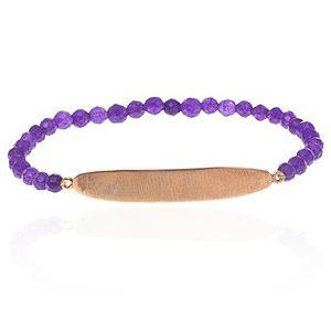 SHAINA    Pure Purple Plaka Bileklik