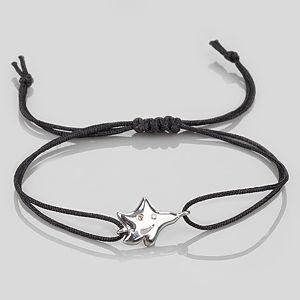 Shaya Collection    Yıldız Motifli Siyah Makrome Bileklik