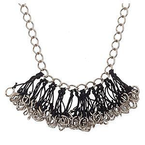 Chain Reaction    Parlak Metal Chain String Blossom Kolye