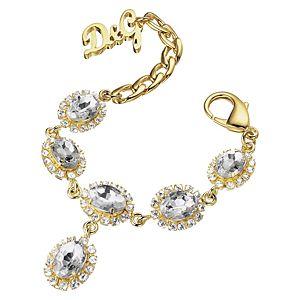 Dolce & Gabbana    Altın Kaplama Taşlı Çelik Bileklik