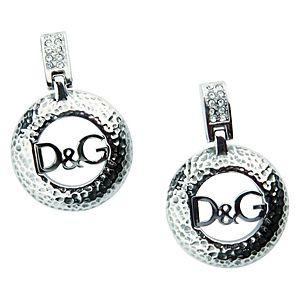 Dolce & Gabbana    D&G Yazılı Çelik Küpe