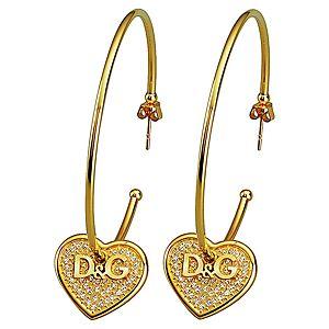 Dolce & Gabbana    D&G Yazılı Kalp Küpe