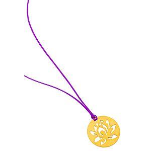 Kamalaya Design    Lotus Mor İp Kolye