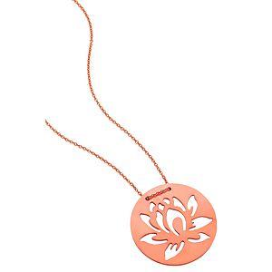 Kamalaya Design    Lotus Pembe Altın Kaplama Zincir Kolye